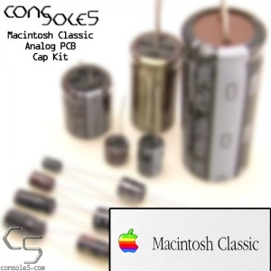 Macintosh Classic and Classic II Analog PCB Cap Kit for p/n 630-0525