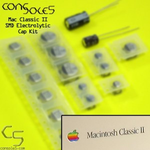 Macintosh Classic II 2 Electrolytic SMD Main PCB Cap Kit (Rev 1 & 2)