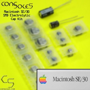 Macintosh SE/30 SMD Electrolytic & Axial Capacitor Main PCB Cap Kit