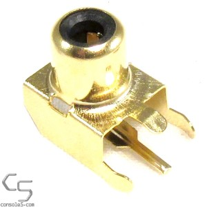 GOLD PLATED PCB Mounted RCA Jack: RF Port for Atari 2600 Junior