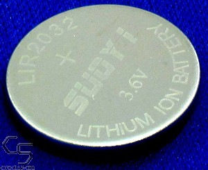 LIR2032 Rechargeable 2032 Lithium Battery Coin Cell