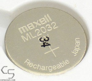 Maxell ML2032 Rechargeable 2032 Lithium Battery Coin Cell