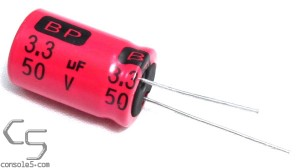 Xicon 3.3uF 50v Low ESR Bipolar Electrolytic Capacitor, Radial Leads BPHR50V3.3-RC