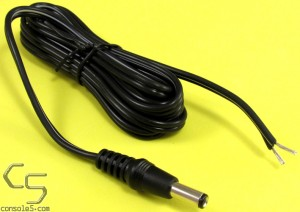6' DC Plug Cord for Atari 5200, Intv II, TG16 CD Dock, Twin Famicom, 18 AWG