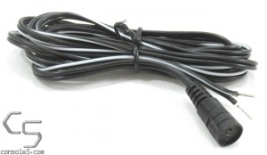 2 Pin Adaptaplug DC Cable to Tinned Wire Leads, 6' / 1.8m Length
