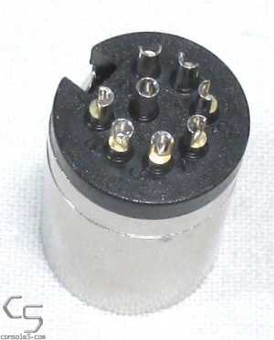 DIN Connector Plug: 8 pin, C-style 270, Male In line Moldable