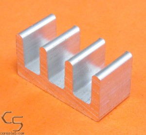 DIP14, DIP16, DIP18 Aluminum Heat Sink: Glue / Epoxy On (DIP 14 16 18)