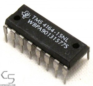 64Kb x 1-Bit DRAM: TMS4164-15 - NOS 4164 RAM DIP DIP16