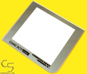 FunnyPlaying GLASS GBP Game Boy Pocket retro pixel IPS Glass Lens - Limited Silver Famitsu 1997