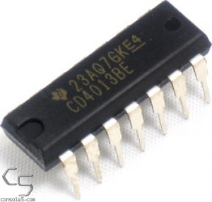CD4013 Flip-Flop IC (Atari 5200 / 7800: Power stuck on or off) Flip Flop