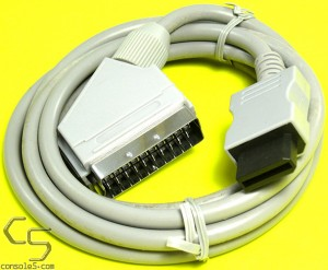 Nintendo Wii RGB SCART Cable, 1.8m (5.5') Length, PAL