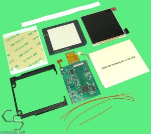 Game Boy Pocket IPS LCD kit with OSD feature, New Glass and LCD Bracket GBP/GBL