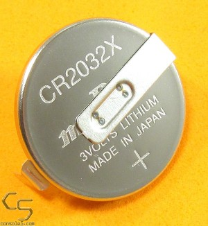 Murata / Sony CR2032 Lithium Battery with Solder Tabs / Pins Made in Japan (NES Saves)