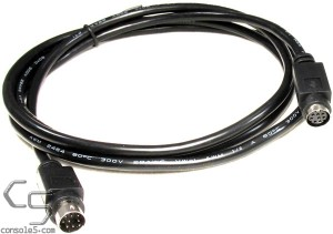 Turbo Duo, PC Engine 5' (1.5m) Joystick Controller Extension Cable Cord - Black