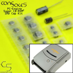 NEC PC-Engine Super CDROM CD-ROM2 Cap Kit - SMD type capacitors