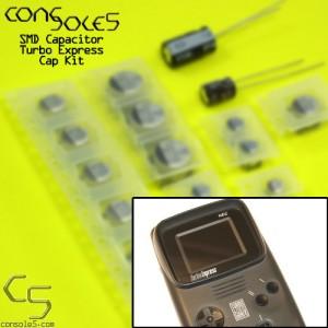 NEC Turbo Express / PC Engine GT SMD Cap Kit (with Jailbar fix caps)