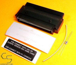 NES Game Cartridge to Famicom Converter / Adapter: 72 to 60 pin w/ Audio Resistor Kit