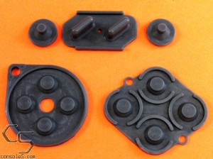 SNES Replacement Controller Silicone Rubber Carbon Dot Pads