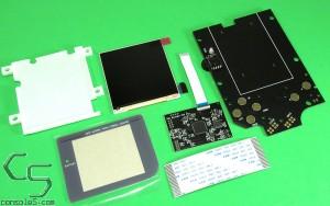 v4 RIPS Nintendo Game Boy Classic DMG-01 FULL SIZE IPS Backlit OSD LCD Kit + Bracket