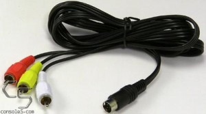 Sega Genesis 2 / 3 / CDX / Nomad Stereo AV Video Cable