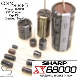 Sharp X68000 XVI Compact Power Supply Cap Kit