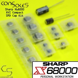 Sharp X68000 XVI Compact Cap Kit (SMD Caps)