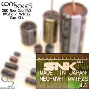 SNK Neo Geo MVS MV1FZ / MV1FZS Cap Kit