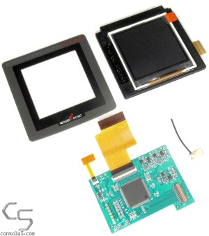 "SNK Neo Geo Pocket Color Modern Backlit 2.2"" LCD Kit, Glass Lens, Bracket - For Original Full Size NGPC"
