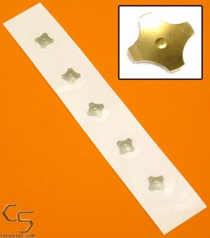 Gold Plated Self-Adhesive Joystick Dome Switches - 10mm Quad / 4 Leg