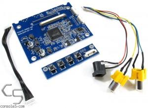 "2AV Composite Video LCD interface board PCB & button panel, VS-D1612-N3 for 3.5"" LQ035NC111"