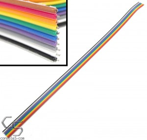 "28ga Stranded 3M Hookup Wire Ribbon, 10 Color Assortment, 12"" (30cm) Length"