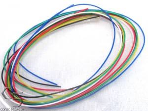 "30ga Kynar Hookup Wire, 8 Color Assortment, 12"" (30cm) Length"