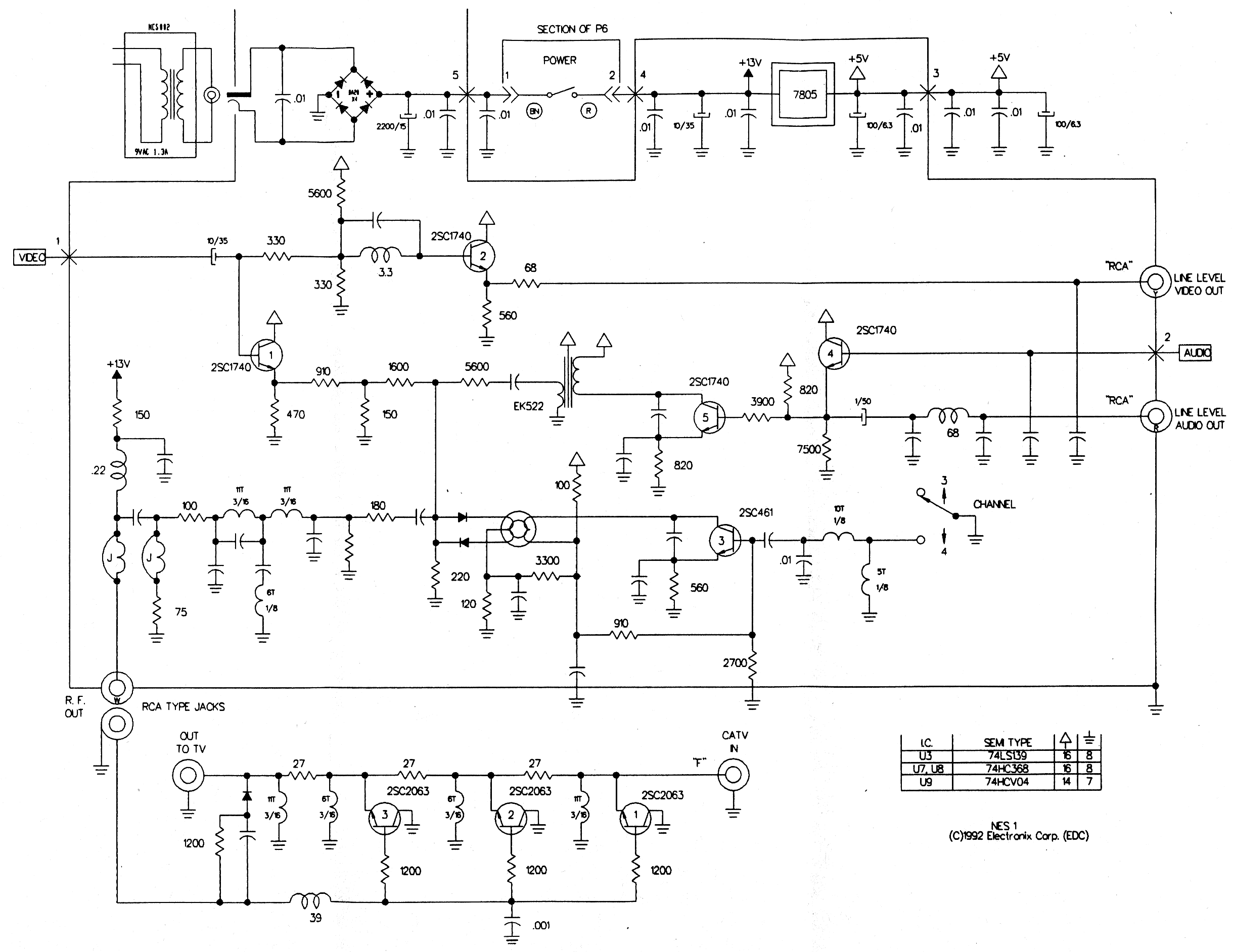 nes motherboard schematic nes get free image about wiring diagram