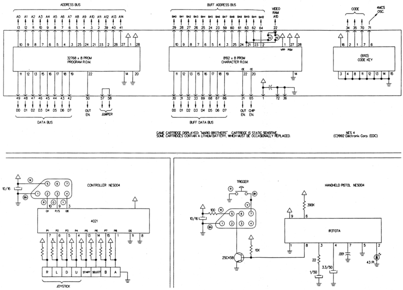 File:NES-001-Schematic---Cartridge,-Controller,-Zapper.png